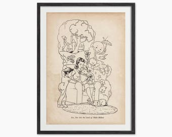 Vintage Illustration from a 1930s Children's Story Book - Art Print - Kids Bedroom Wall Art - Retro Art - Eclectic Home