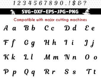 Magnolia Script SVG font letter monogram, font Alphabet Cuttable SVG DXF png jpg eps, Silhouette Studio, Cricut, Cameo.
