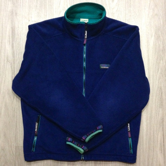 LL Bean Vintage WindBloc Fleece Jacket Men's/Unisex Size