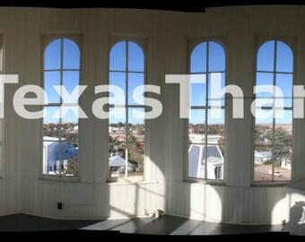 Panorama from Inside Presidio County Courthouse - Marfa, Texas