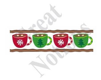 Hot Cocoa Border - Machine Embroidery Design