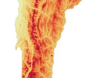 Vermont Elevation Map