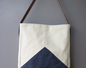 Triad Tote in Denim
