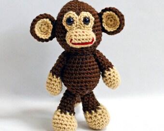 Crochet Monkey, Amigurumi Monkey, Monkey Stuffed Animal, Stuffed Monkey, Charlie the Monkey