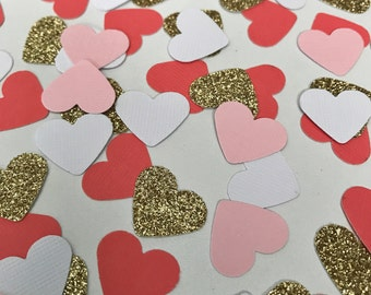 Heart Confetti, Wedding decor, Bridal Shower Confetti, Bridal Party, Paper Hearts, Hearts, Gold, Confetti Hearts, Tiny Hearts, Paper Heart