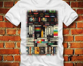 BOARDRIPPAZ Cassette VHS T SHIRT Commodore Video Games 80s Retro Oldschool Music Vhs Cassettes Walkman Analogue Tape Stereo C64 T Shirt 90s