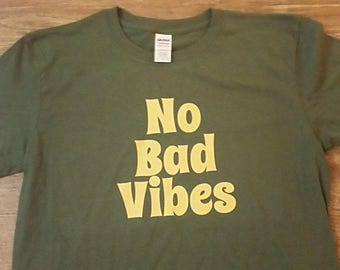 No bad Vibes Short Sleeve Widespread Panic Grateful Dead Phish Moe Lot Shirt
