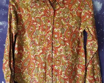 Vintage Women's Paisley Blouse