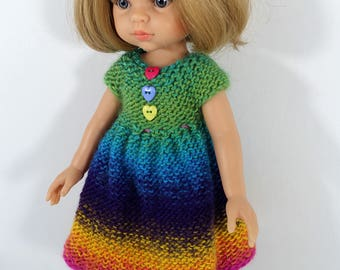 """Knitted dress  for Paola Reina doll (12""""/32 cm). Dress for doll. Clothes for doll"""