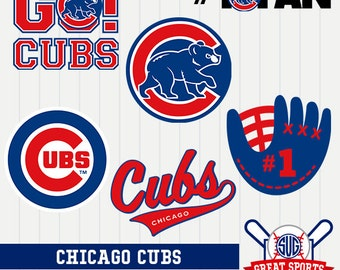 Chicago Cubs SVG, Chicago Baseball Clipart, Chicago Baseball DXF, Baseball Clipart, Chicago Cubs Baseball Clipart, Clipart SVG, mb-13
