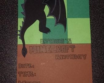 Birthday Invites. Minecraft
