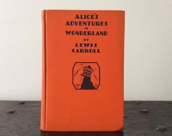 Vintage 1935 Alice's Adventures in Wonderland Lewis Carrol Garden City Publishing / Book / Novel / Fiction