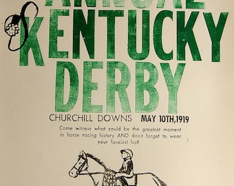The 45th Annual Kentucky Derby Poster Print