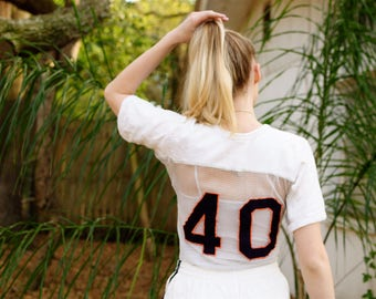 Vintage Auburn Mesh Jersey/ vintage netted mesh jersey, football jersey number 40