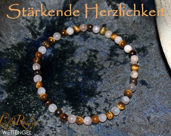 Restorative warmth - Tiger eye, sunstone, Moonstone bracelet