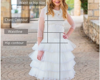 How-to-measure guide for your 'made-to-measure' dress girl. Deviana Design.