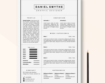 Resume Template Instant Download,  CV Template Word & In Design, Creative Resume, Modern Resume, Resume Instant Download, cover letter