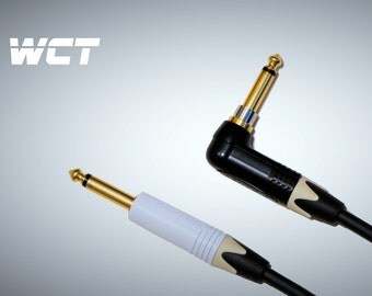 5 Metre 5m Mogami 2524 Silent Right Angled Jack Cable Guitar / Instrument Cable