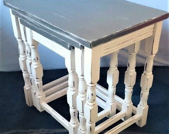 Up-Cycled Style Nest of Tables