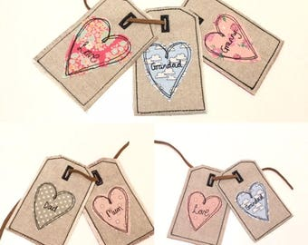 ITH Gift Tag Pattern, 4x4 hoop, In-the-hoop Machine Embroidery designs, Raw Edge Applique, free motion embroidery by Pixie Willow Patterns