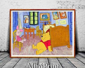 Winnie The Pooh Wall Art winnie the pooh art | etsy