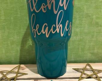 Aloha Beaches Tumbler 30oz - MADE TO ORDER