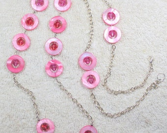 Pink Mother of Pearl Necklace