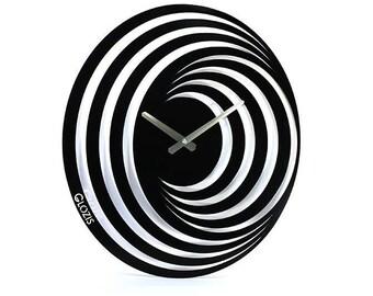 Wall Clock / Large Wall Clock / Modern Wall Clock / Unique Large Wall Clock / Unusual Clock Hypnosis / Wall Clock Large / Metal Wall Clock
