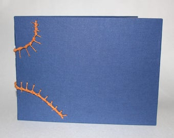 Open Spine Sketchbook/Journal with Decorative Stitches