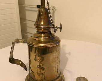 Safety brass oil lamp