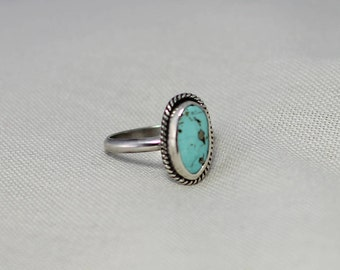 Nacozari Turquoise // Sterling Silver Ring // Handmade // Size 7