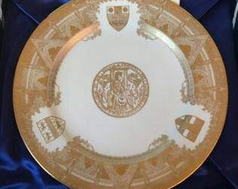 Spode Westminster Abbey commemorative plate 1965 in box
