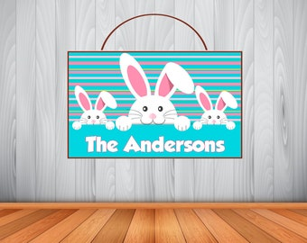 Personalized EASTER Sign, Wooden Easter Name Sign, Easter Room Decor, Easter Birthday Gift, Easter Wall Art, Customized Easter Sign