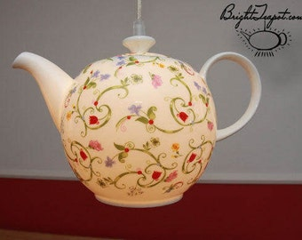Teapot hanging lamp, brand new 1.5 liter fine bone china coffee/tea pot with a modern design