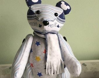 Memory Patchwork Teddy Bear Keepsake