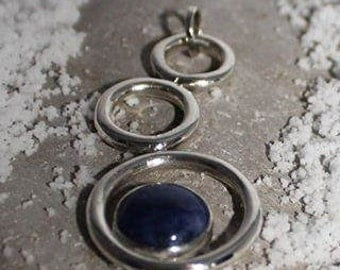 Silver Pendant bubbles with Sodalite crafts