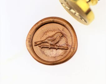 Bird on Branch Wax Seal Stamp/ wax sealing kit /Custom wedding seals/wedding invitation seal/SS102