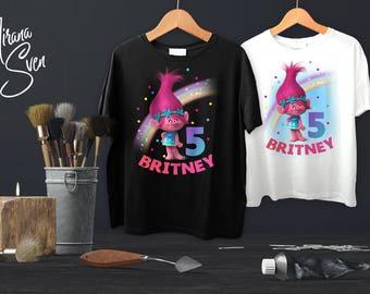 Trolls Iron On Transfer Shirt-Trolls Digital Printable-Trolls Birthday Party -Trolls Birthday Invitation-Trolls-Trolls S-Trolls Clothing
