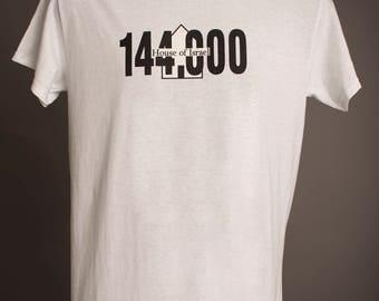 White Fringed 144,000 House of Israel Tshirt
