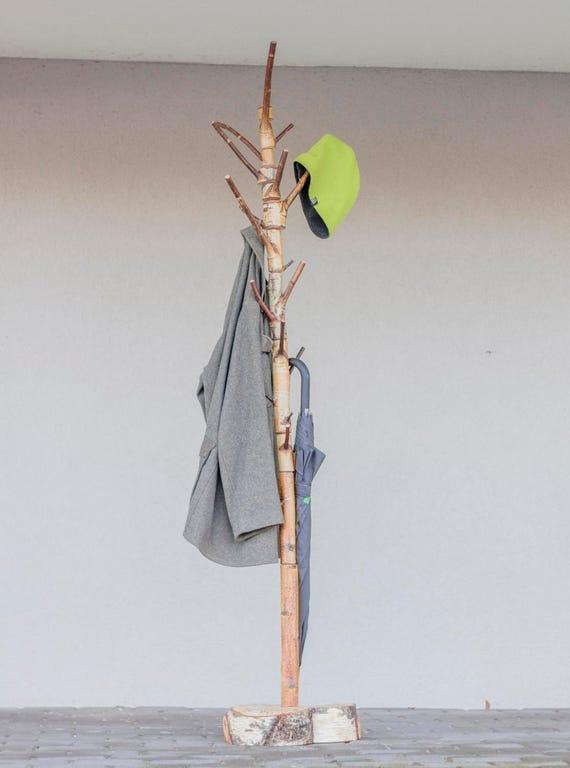 Garderobe freistehend birke garderobenst nder 360 grad birke for Garderobe birke