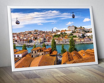 Porto Portugal Douro river Old Porto Photo Porto Print Porto Poster Porto Wall Art Porto Wall Decor Porto Art Porto Skyline Portugal old