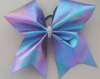 Green Blue Purple Holographic Bow