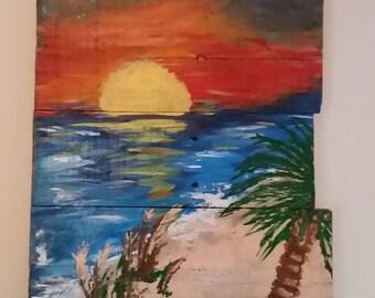 A Sunset, Sunset, Beach
