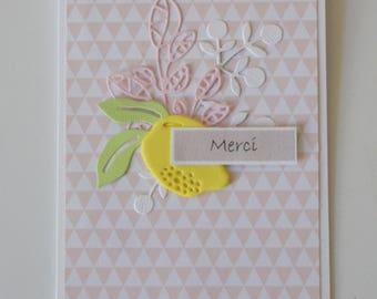 "Lemon ""Thank you"" cards"