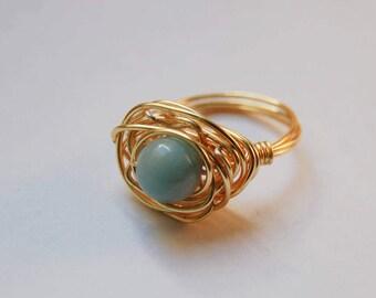 Aquamarine gold ring. Golden ring Aquamarine. Aquamarine ring. Gemstone ring. Female golden ring. Golden ring
