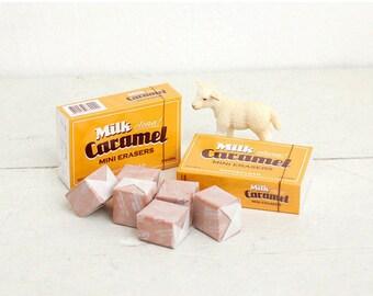 Caramel Eraser / Kawaii Eraser / A set of 6pcs / 04-s