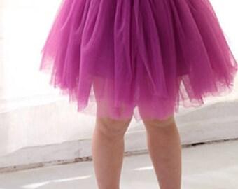 Girls Tulle Skirt/Custom Color