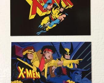 MAGNET SET: X-Men TV Cartoon 1990s Wolverine Cyclops
