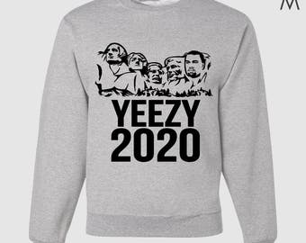Mount Rushmore Kanye 2020 Adult Crew Neck Sweatshirt