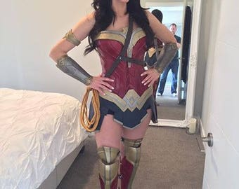 Wonder Woman Accessories - Tiara, Bracers, Arm Band & Leg Armour
